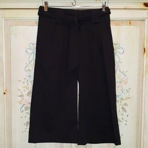 Cache Gaucho Pleated Pants Wide Leg Black